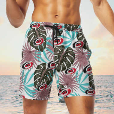 Carolina Hurricanes Hawaiian Shirts, Beach Short