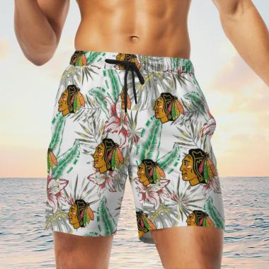 Chicago Blackhawks Hawaiian Shirts, Beach Short