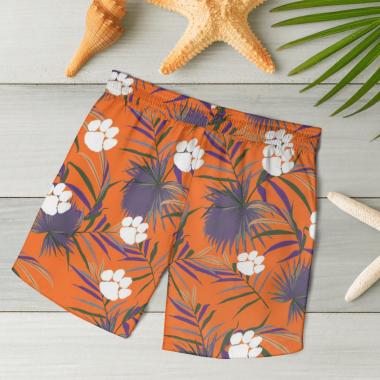 Clemson Tigers Hawaiian Shirts, Beach Short