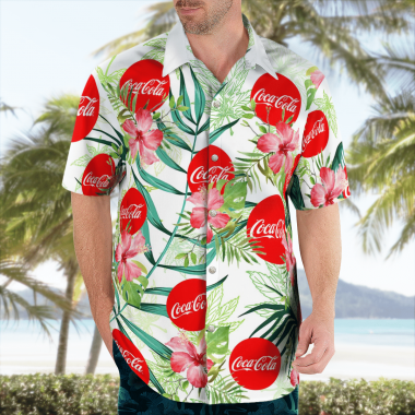 Coca Cola Hawaiian Shirts, Beach Short, hawaii short, beach shirt
