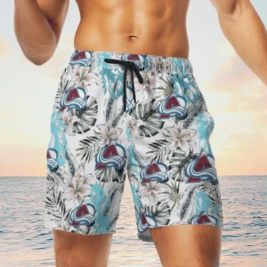Colorado Avalanche Hawaiian Shirts, Beach Short