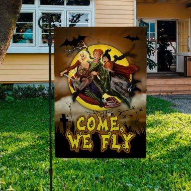 Come We Fly Funny Halloween Garden Flag Halloween Decorations House Flag Wall Flag