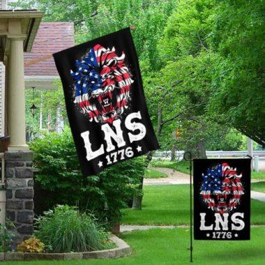 Conservative Gift Lion Not Sheep Lns 1776 Garden Flag House Flag Wall Flag