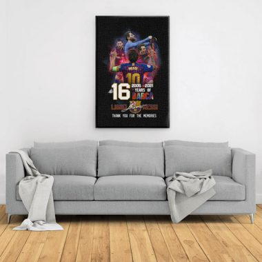Lionel Messi 16 Years Of Barca 2005-2021 Canvas, Poster