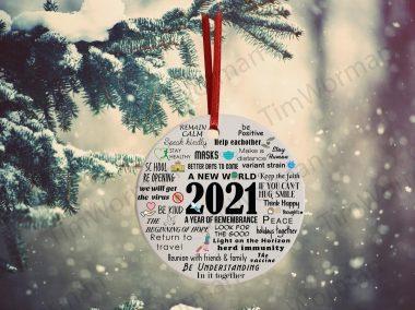 2021 Pandemic Commemorative Christmas Ornament 2021 Vaccine xmas ceramic holiday Ornament