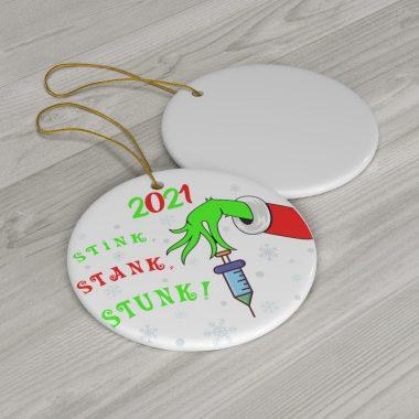 2021 The Grinch Stink Stank Stunk Christmas Ornament 1