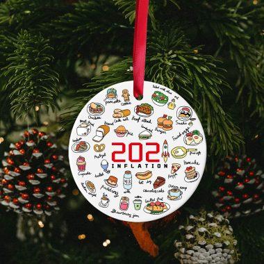 Annual Events Inflation 2021 Christmas Decorations Quarantine Commemorative Pandemic Ornament Ceramic 1 1