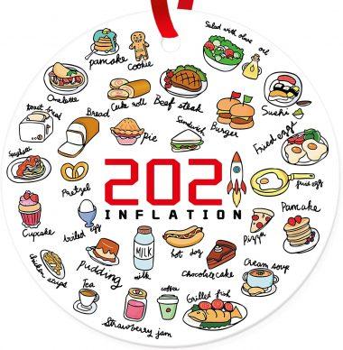 Annual Events Inflation 2021 Christmas Decorations Quarantine Commemorative Pandemic Ornament Ceramic