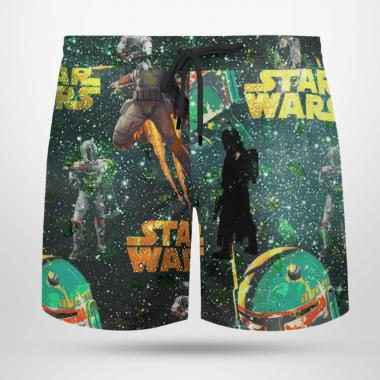 Boba Fett Star Wars Hawaiian Shirts, Beach Short