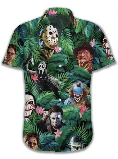 Horror Halloween Tropical Hawaiian Shirt