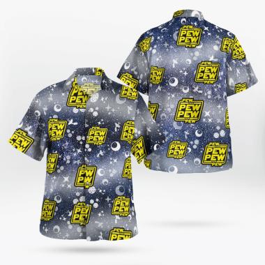 Pew Pew Star Wars Hawaiian Shirts, Beach Short