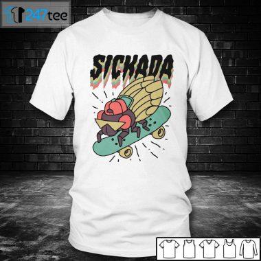 White Men T shirt Sickada Cicada T shirt