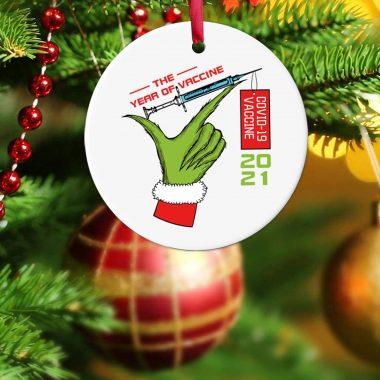 Year of Vaccine 2021 Christmas Decorations Quarantine Commemorative Pandemic Ornament 1