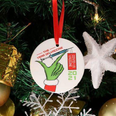 Year of Vaccine 2021 Christmas Decorations Quarantine Commemorative Pandemic Ornament