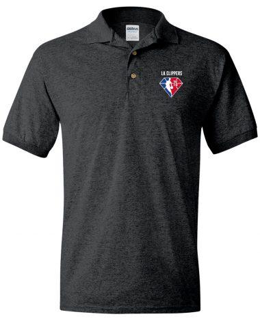 Dark Polo Shirt LA Clippers NBA 75th Anniversary Polo Shirt
