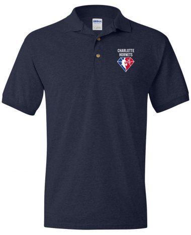 Navy Polo Shirt Charlotte Hornets NBA 75th Anniversary Polo Shirt