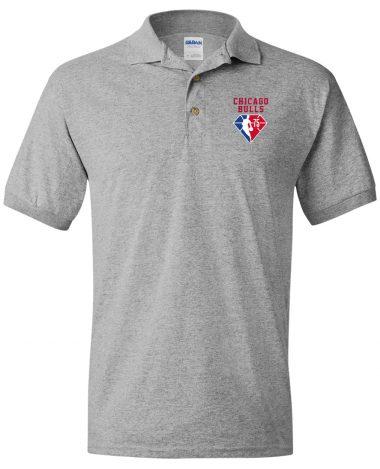 Sport grey polo Shirt Chicago Bulls NBA 75th Anniversary Polo Shirt