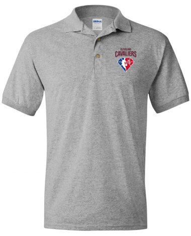 Sport grey polo Shirt Cleveland Cavaliers NBA 75th Anniversary Polo Shirt
