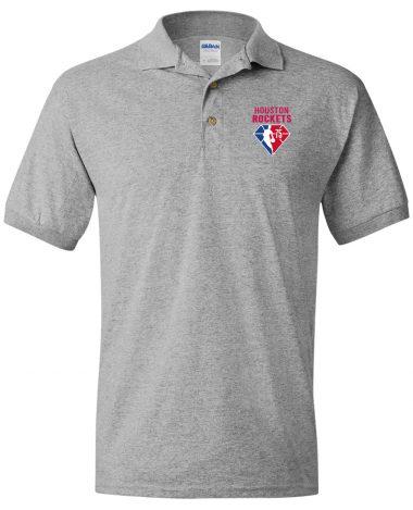 Sport grey polo Shirt Houston Rockets NBA 75th Anniversary Polo Shirt